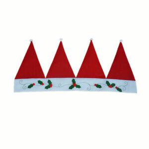 Decor Christmas Window Door Curtain Kitchen Room Hat Cap Santa Decoration indoor