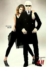 Rare 2004 Original Vogue Magazine Advert Picture for H&M x Karl Lagerfeld Ad