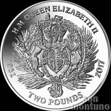 2017 Queen Elizabeth II Sapphire Jubilee: Royal Crest CUNI COPPER NICKEL Coin