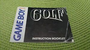 Nintendo Gameboy Instruction Booklet Manuals Golf