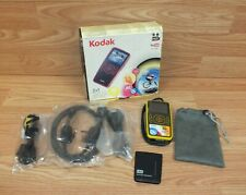 Genuine Kodak Zx1 Yellow & Black Pocket Video Camera With Cords & Pouch *READ*