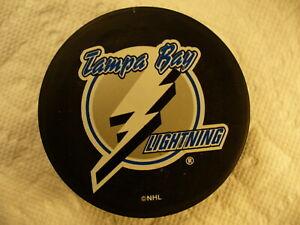 NHL Tampa Bay Lightning 90s Basic Series Souvenir Logo Hockey Puck Collect Pucks