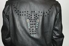 True Religion Herren Leder Jacke Schwarz Größe M Neu mit Etikett UVP 999 Euro