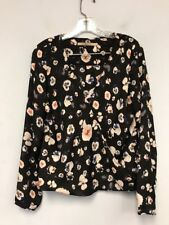 GUESS Los Angeles Womens Floral Sheer Top Blouse Shirt Size M