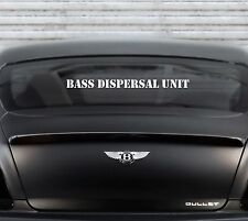 Bass Dispersal Unit Decal car truck lowrider car stereo sound sticker audio
