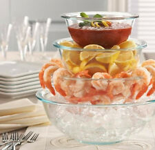 Mixing Bowls 3 Set Glass Glassware No Odors Oven Microwave Freezer Safe Cooking