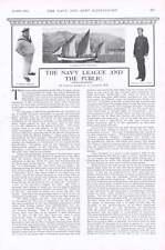 1901 IL PORTO DI ALGERI capitale francese Navy League e il pubblico