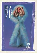 "Barbie Collectible Fashion Trading Card  "" Magic Moves Barbie ""  Blue Fur 1986"