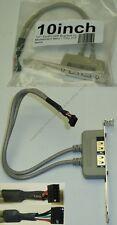 Dual USB2.0 Port/Female/Jack Bracket~Motherboard 2x5 10pin/9pin header{Tiny/Mini