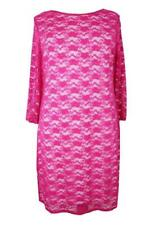 Plus Size Ladies Hot Pink Lace Dress - Sizes 16, 18, 20 & 22