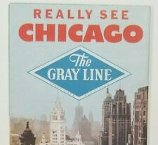 1956 The Gray Line Chicago Sight Seeing Tours Bus Limo Hotels