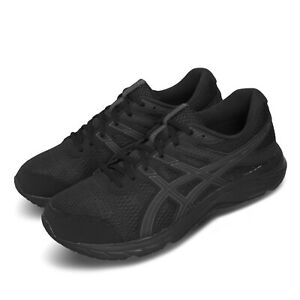 Asics Gel-Contend 6 4E Extra Wide Black Grey Men Running Shoes 1011A666-002