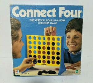 Vintage 1990 Hasbro Connect Four Board Game Excellent Condition w/ All Pieces