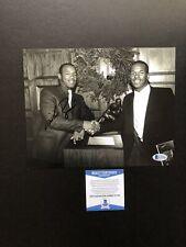 Mike Rozier autographed signed 8x10 photo Beckett BAS COA NCAA Nebraska Heisman
