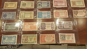 Juego completo 36 decimos Loteria Nacional año 1957 A1