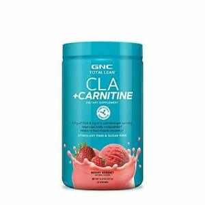 GNC Total Lean CLA + Carnitine - Berry Sorbet, 60 Servings, Improves Body...