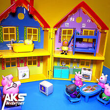 Peppa Pig Deluxe House Playset George Suzy Sheep Playhouse Toddler Kids Toy New