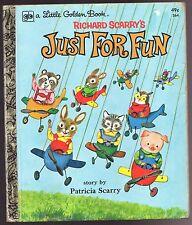 Vintage Children's Little Golden Book ~ Richard Scarry's JUST FOR FUN