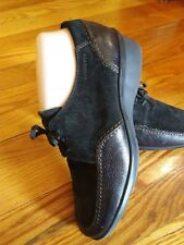 StoneFly Austria Black Leather/Suede Lace Up Oxford Shoes size 38