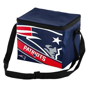 New England Patriots Insulated soft side Lunch Bag Sports Cooler Striped Logo