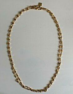 Vintage Anne Klein Chain Necklace Gold Tone