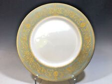 Royal Worcester Fine Bone China Green/Gold Trim Dinner Plate Balmoral 1966