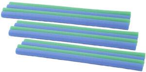 Hudora Trampolin Schaumstoffrohre 12 St. 100 cm (6xblau u. 6xgrün) Polster Hülle