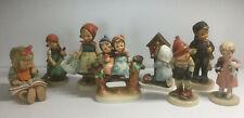 Goebel Hummel Figurine Collection 8 Piece Lot Vintage Germany Tmk-1 Tmk-5