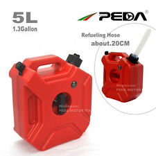 5L Jerry Cans Portable Gas Diesel Fuel Tank w/ Lock SUV ATV Motorcycle Scooter