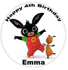 """Bing Cbeebies Personalised Wafer Paper Topper For Large Cake Various Sizes 7.5"""""""