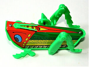 Tin Litho & Plastic Wind-Up Crawling Grasshopper Hong Kong Toy New NOS 1970s