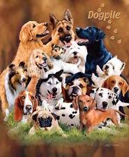 Dog Pile Signature Series Raschel Plush Queen Size Blanket by Gardner