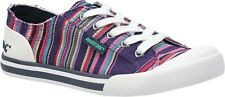 Rocket Dog Jazzin Canvas Aloe ladies lace up trainers shoes