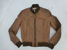 WOMENS ZARA BASIC FULL ZIP LEATHER JACKET SIZE MEDIUM #W2057