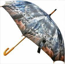 Regenschirm Hirsch und Rehe Stockschirm umbrella Landhausstil Jagd Jäger