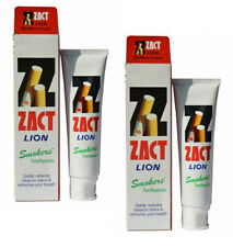 2 x ZACT LION Smokers Toothpaste White Teeth Refresh 160 g.