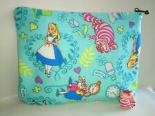 Free shipping ANDMADE ALICE IN WONDERLAND PATTERN COMETIC BAG PENCIL BAG MINT
