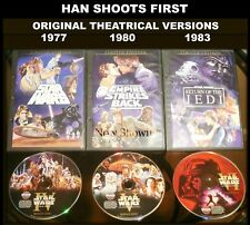 Star Wars Trilogy 3 Dvds Widescreen Original Theatrical Versions Release Cut