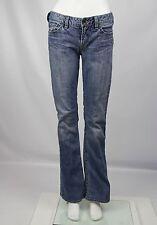 Silver Womens 28 x 33L Medium Wash Distressed Denim Low Rise Bootcut Toni Jeans