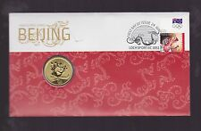 2008 Beijing Olympic Games Australia Team FDC PNC $1 Coin Stamp Set