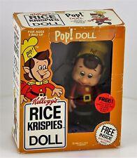 Vintage Kellog's Rice Krispies Pop! Doll Original Box Comic Book 1984 Cereal Toy