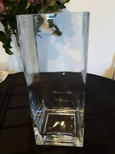 Large Square Vase 10x4x4 inches