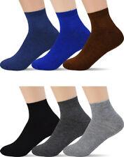 12 Pairs Men's Low Cut Socks - Ankle Black Gray White For Men Shoe Size 8-12