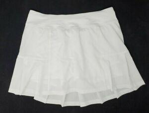 Kyodan Womens Tennis Skirt Skort White Size S Golf Pickleball