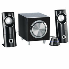 auvisio Aktives 2.1-Multimedia-Soundsystem mit Subwoofer MSX-220, 32 Watt