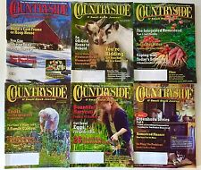 6 Issues Countryside Magazines Lot 2008 Homesteading Small Stock Journal Q