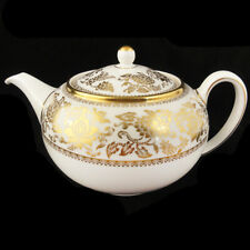"""GOLD DAMASK by Wedgwood Tea Pot 5.2"""" tall  NEW NEVER USED made in England"""