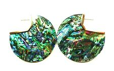 KENDRA SCOTT Kai Rose Gold Plated Abalone Shell Disk  Earrings