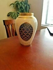 "Faberge Imperial Gold China Vase The Pine Cone Egg 7 1/4"" Near To Mint Very Rare"