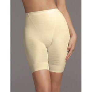 Vintg Flexees One Fabulous Body Moderate Control Long Leg Thigh Slimmer Ivory XL